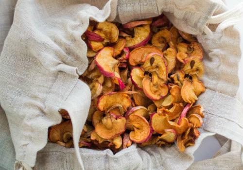 тканевые мешки для хранения сушеных яблок
